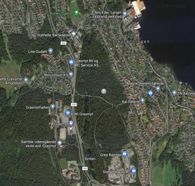 Kart til Bamble Hundepark