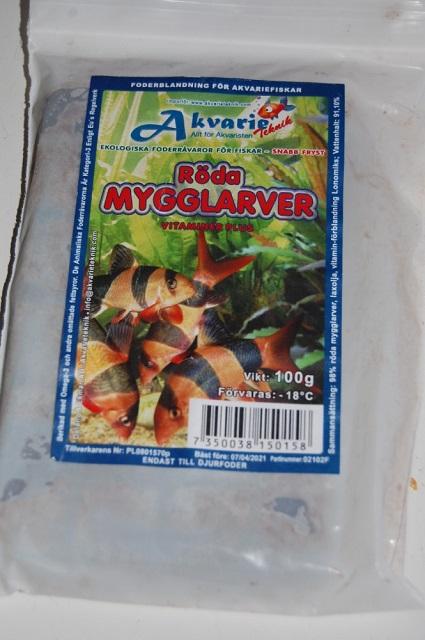 Frossenfôr til akvariefisk og skilpadder
