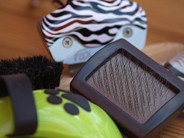 Ulike børster til pelsstell hos hund